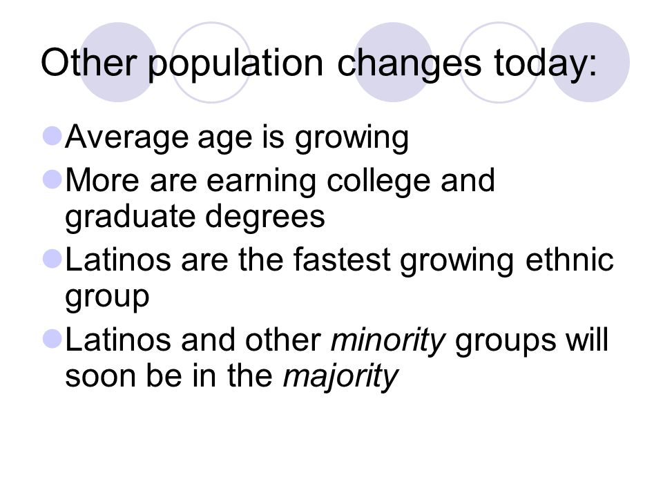 Other population changes today: