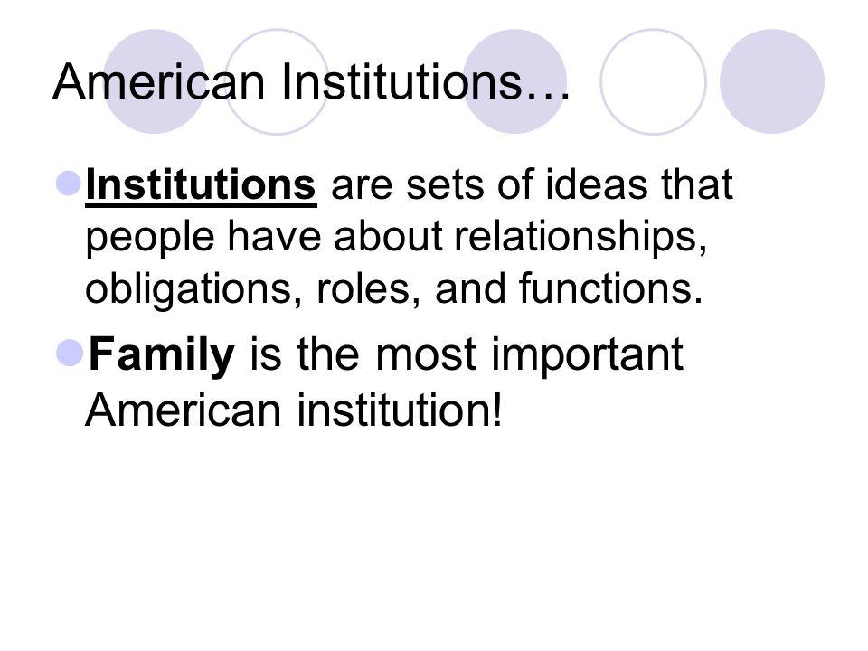 American Institutions…