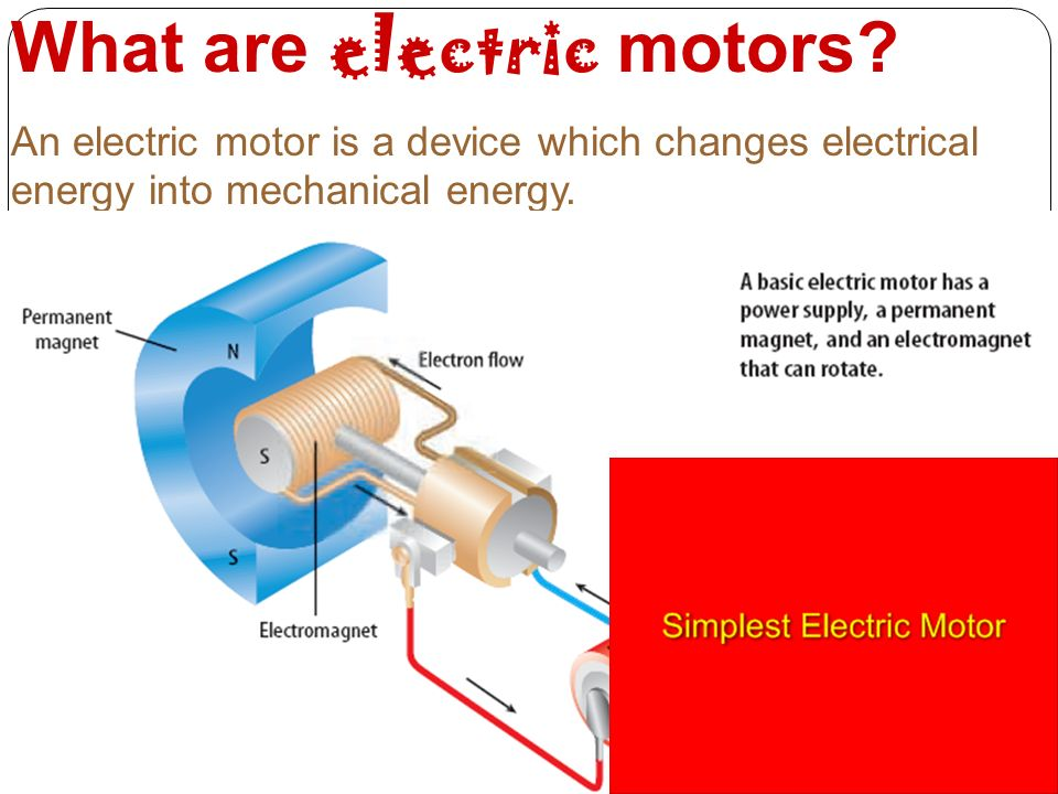 What are electric motors