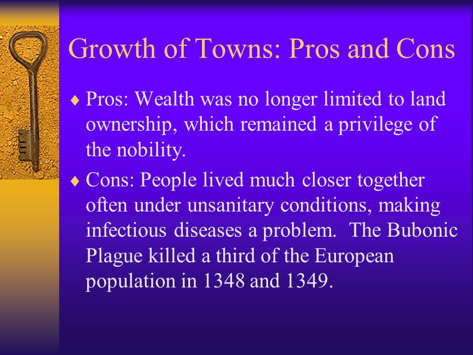 Growth of Towns: Pros and Cons