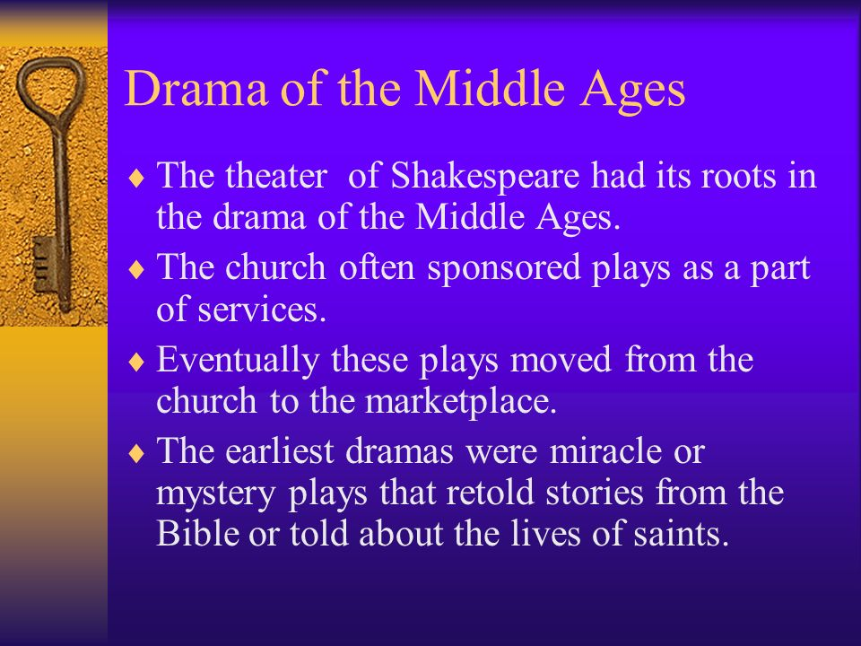 Drama of the Middle Ages