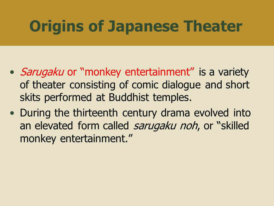 Japanese Theatre. - ppt video online download