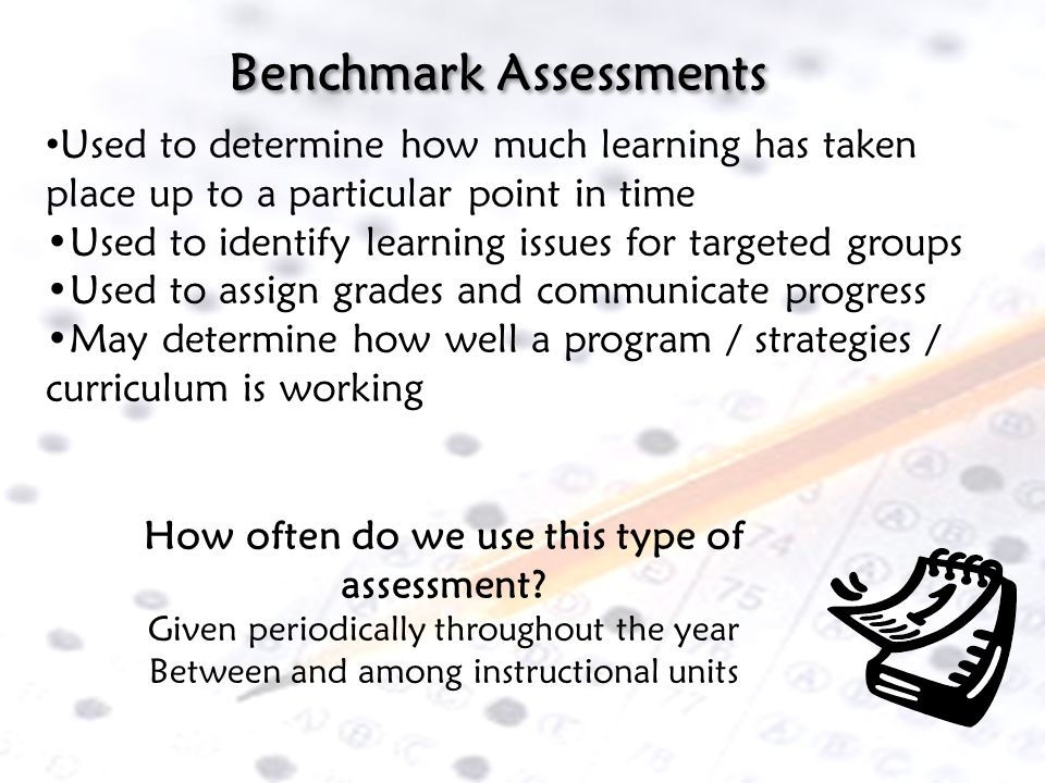How often do we use this type of assessment