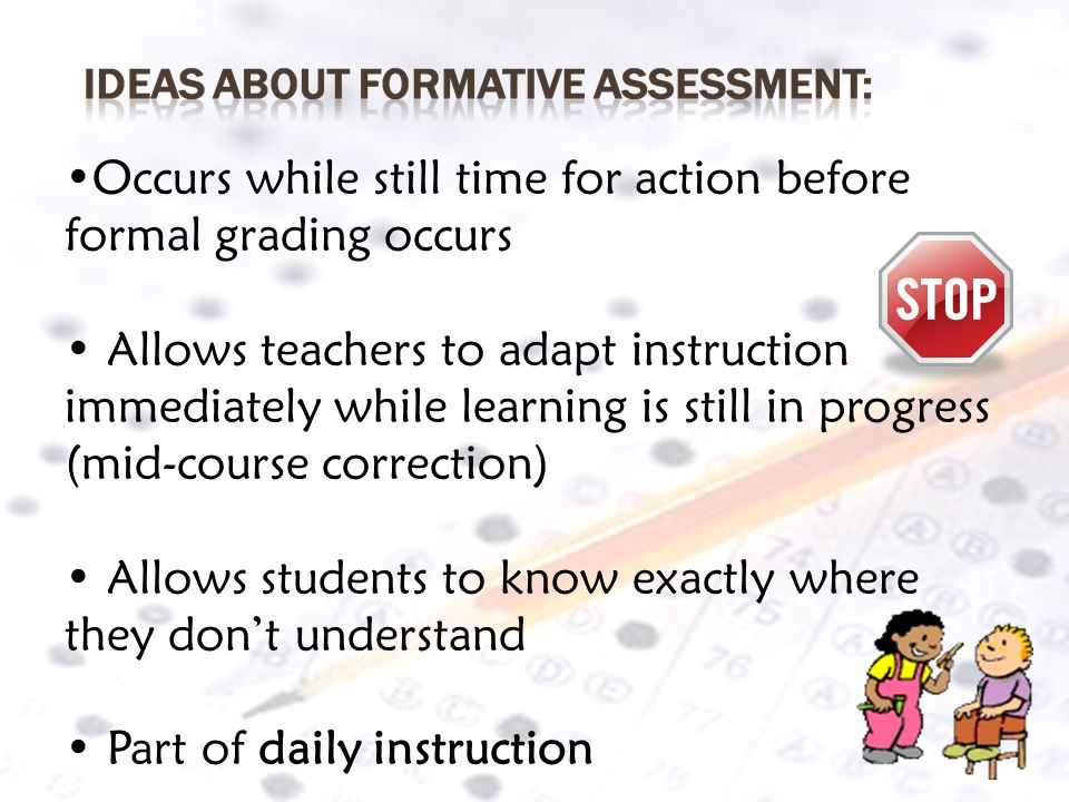 Occurs while still time for action before formal grading occurs
