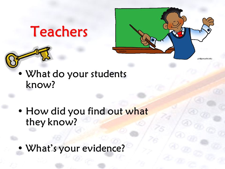 Teachers What do your students know