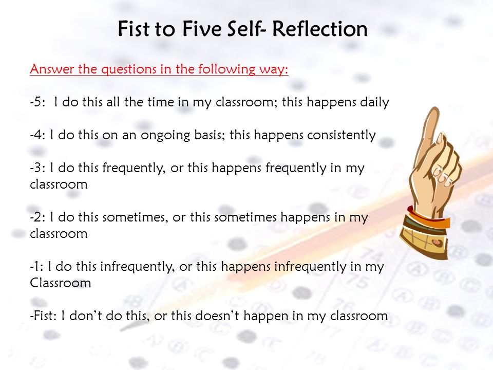 Fist to Five Self- Reflection