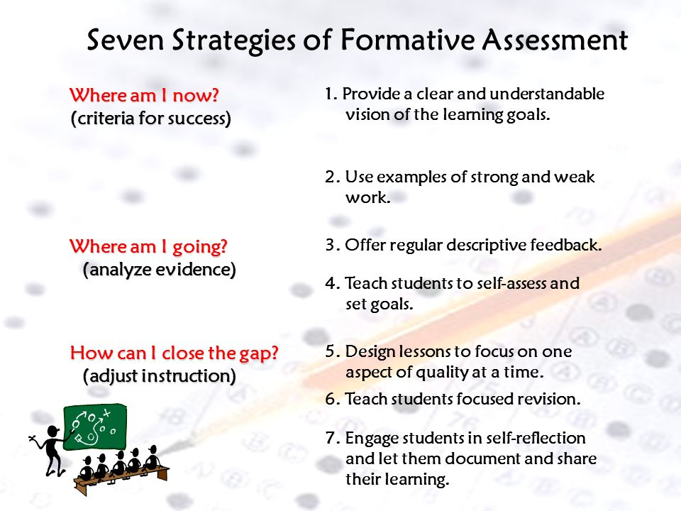 Seven Strategies of Formative Assessment