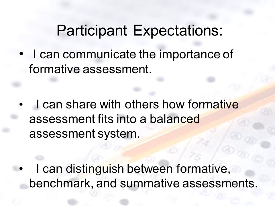 Participant Expectations: