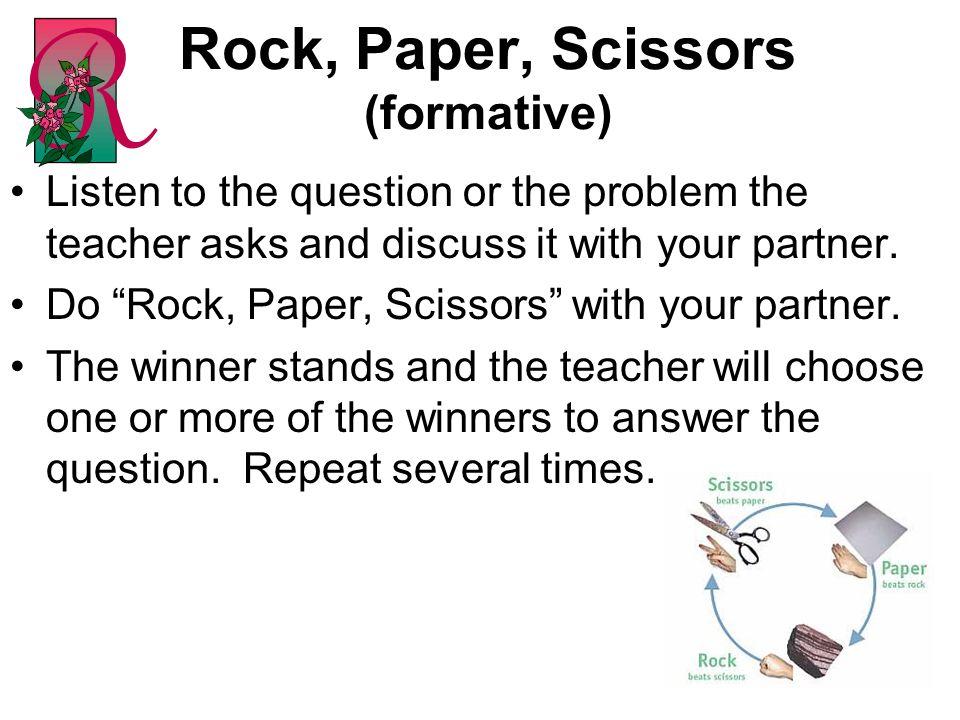Rock, Paper, Scissors (formative)