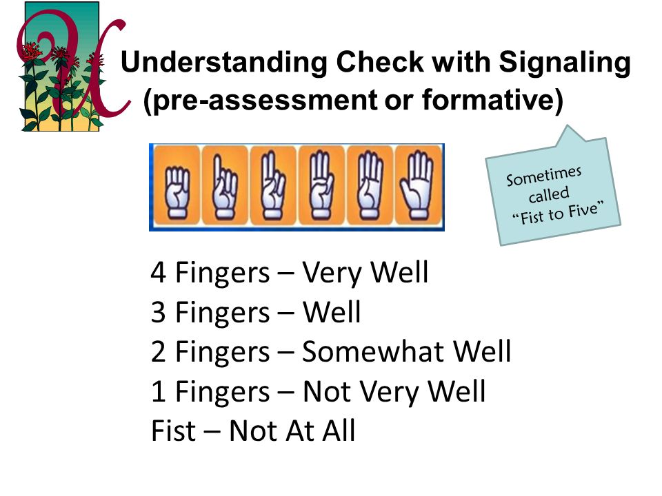Understanding Check with Signaling (pre-assessment or formative)