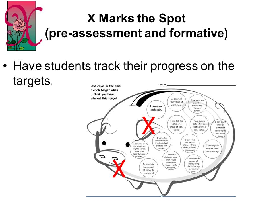 X Marks the Spot (pre-assessment and formative)
