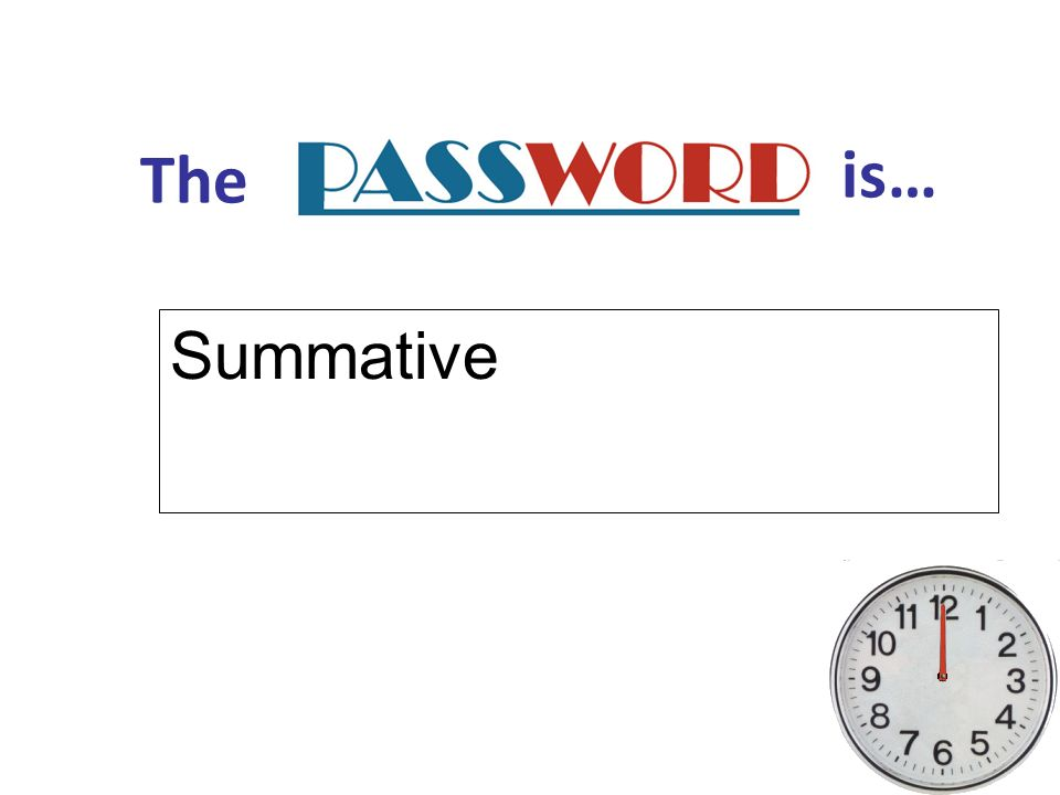 The is… Summative
