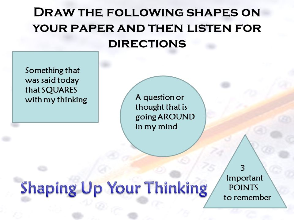 Shaping Up Your Thinking
