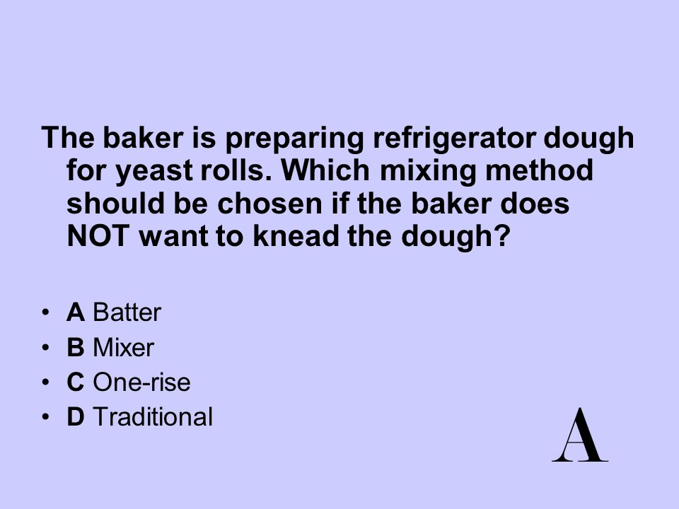 The baker is preparing refrigerator dough for yeast rolls