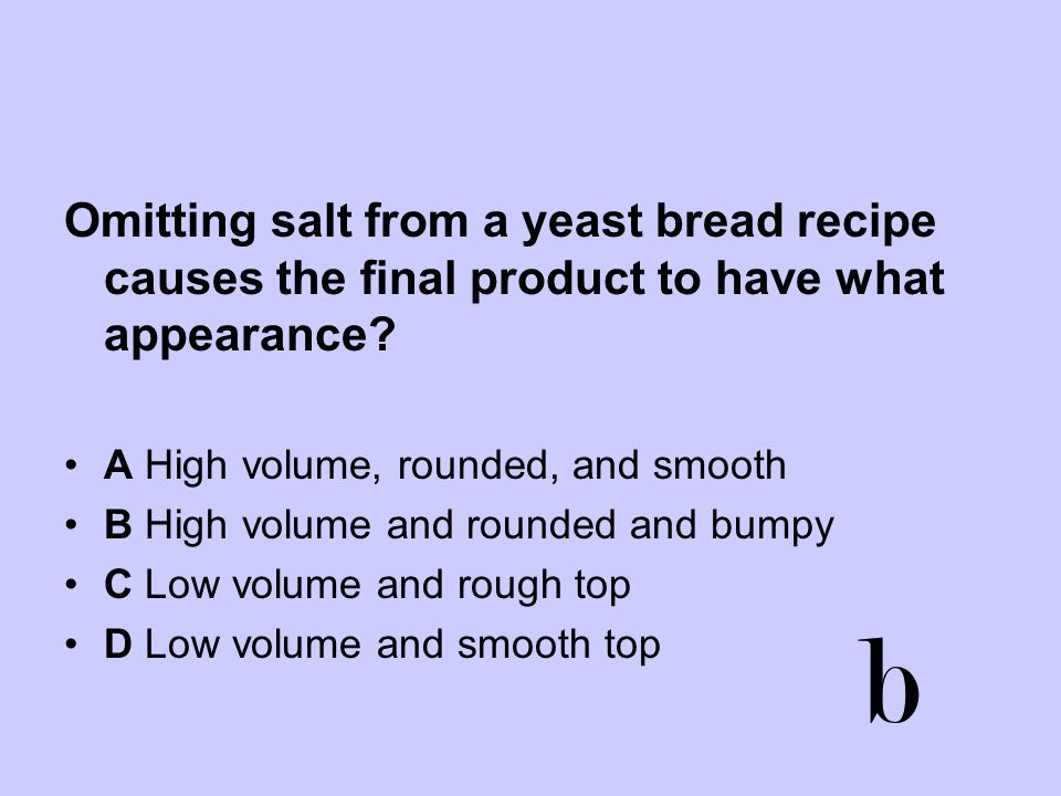 Omitting salt from a yeast bread recipe causes the final product to have what appearance