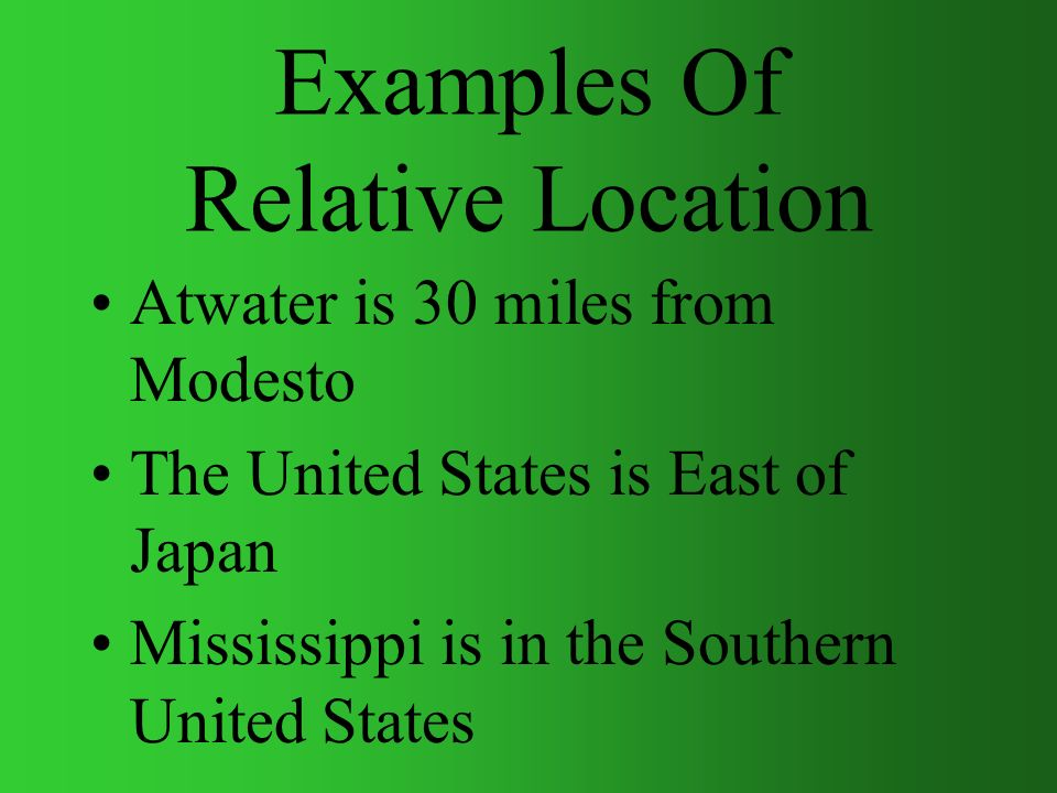 Location where is it includes absolute and relative location examples of relative location sciox Choice Image