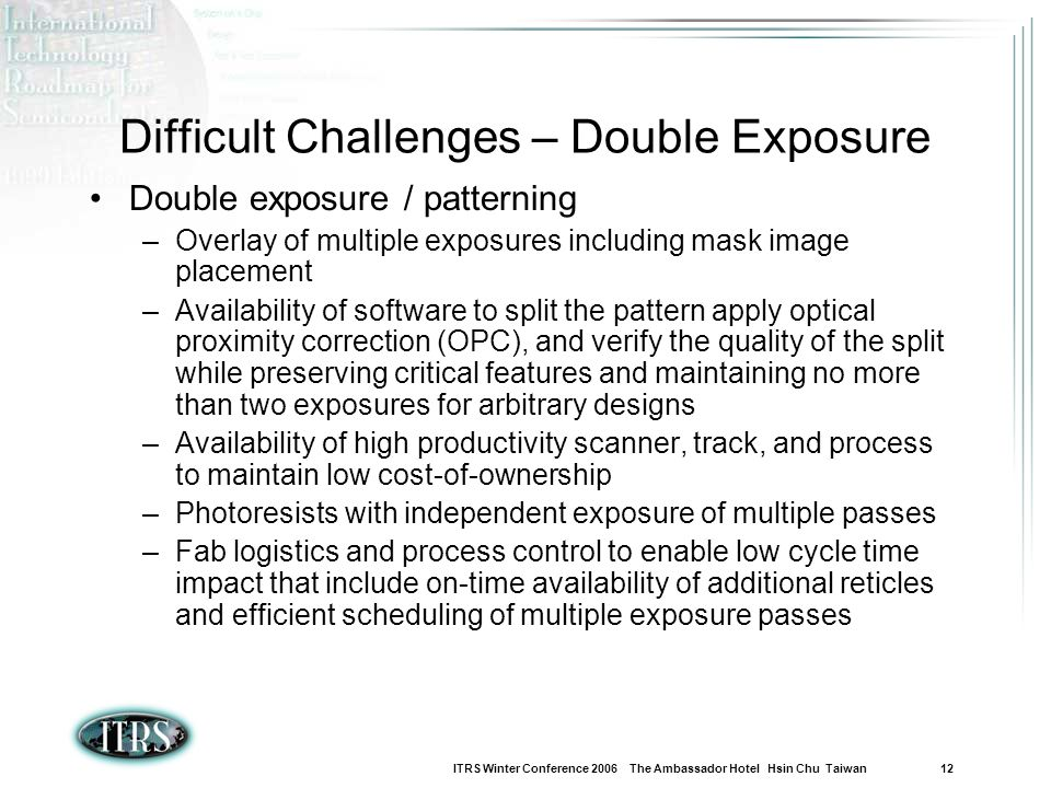 Difficult Challenges – Double Exposure