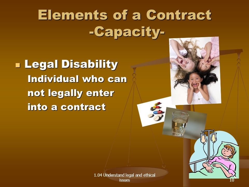 Elements of a Contract -Capacity-