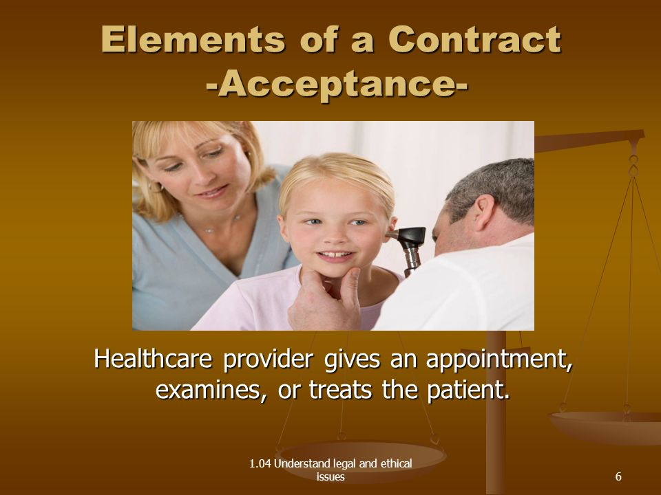 Elements of a Contract -Acceptance-