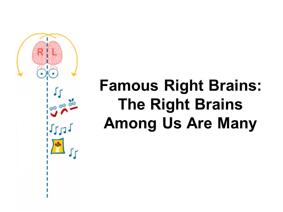Famous Right Brains: The Right Brains Among Us Are Many
