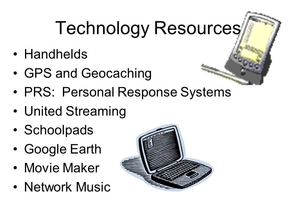 Technology Resources Handhelds GPS and Geocaching