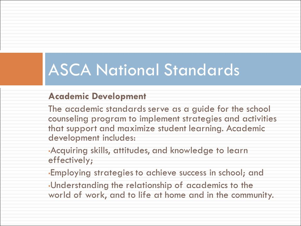 ASCA National Standards