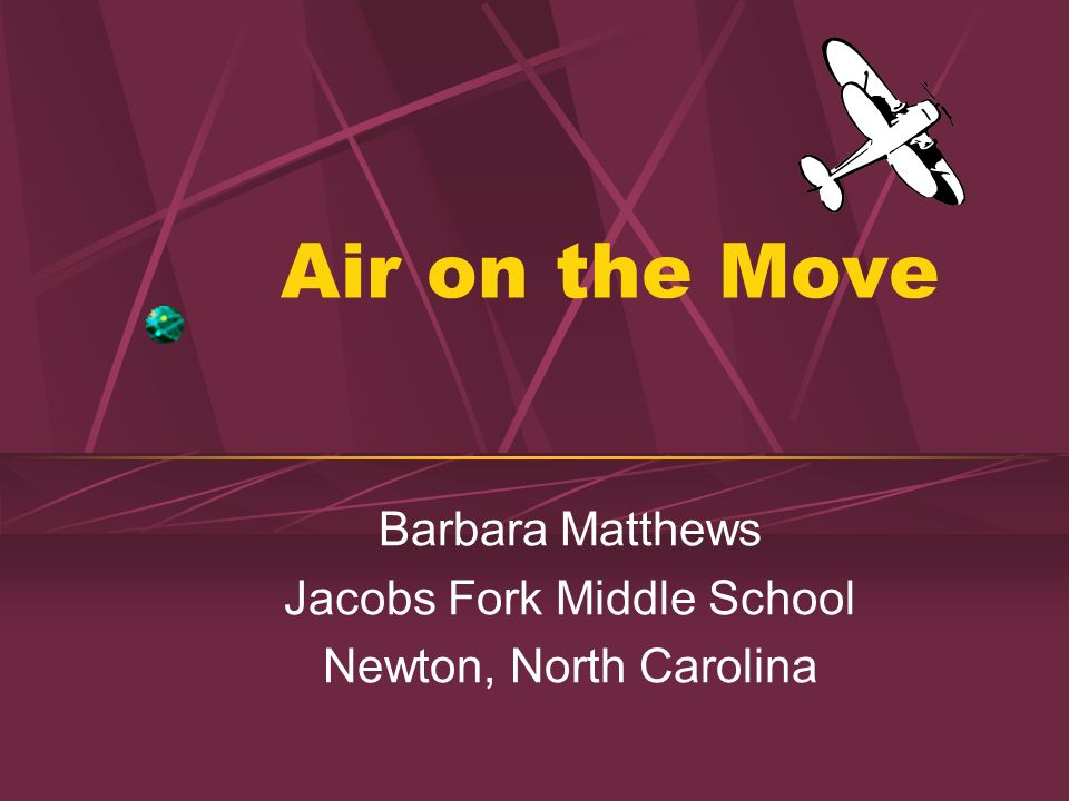 Barbara Matthews Jacobs Fork Middle School Newton, North Carolina