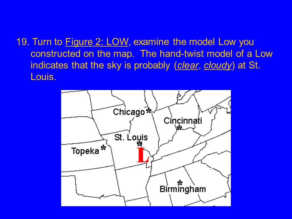 19. Turn to Figure 2: LOW, examine the model Low you constructed on the map.