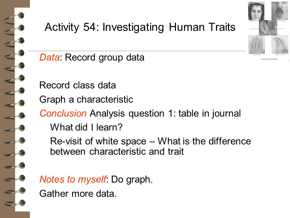 Activity 54: Investigating Human Traits