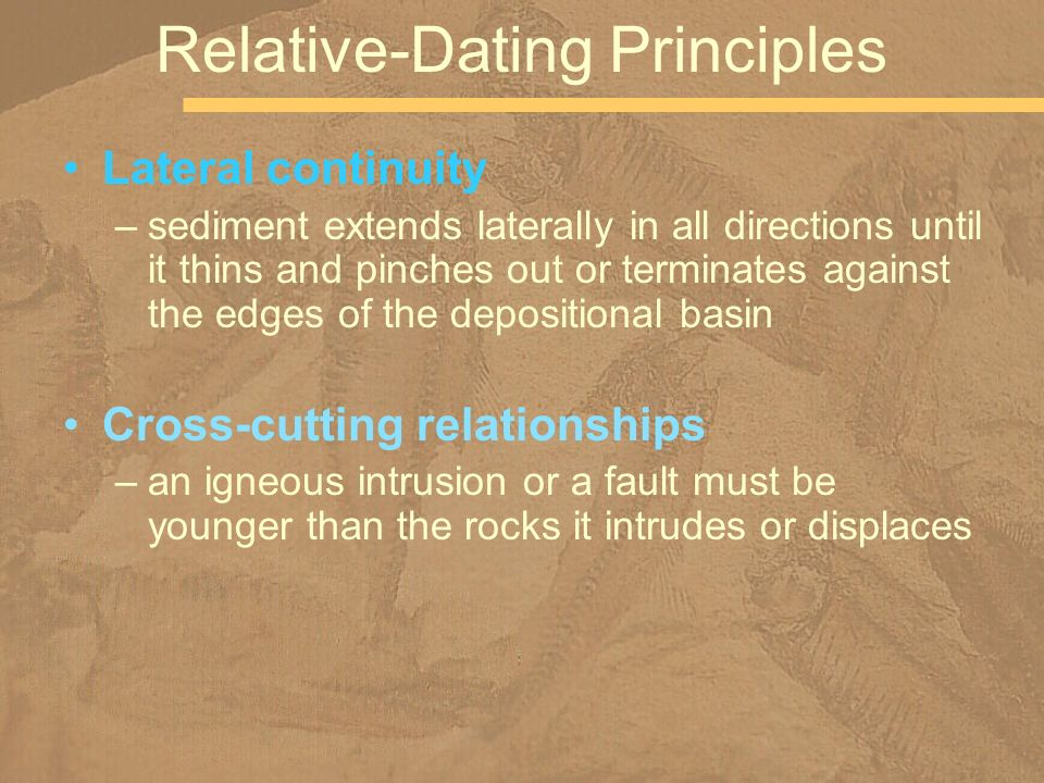 What are the four relative dating principles