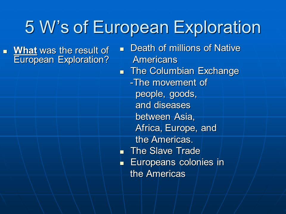 5 W's of European Exploration