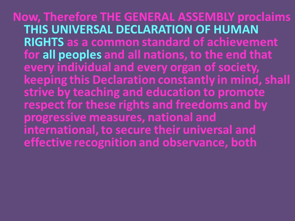 an introduction to the observance of human rights and freedoms Introduction to the constitution of togo  this was based on the observance of democratic  transition of power, and the protection of human rights and freedoms4.