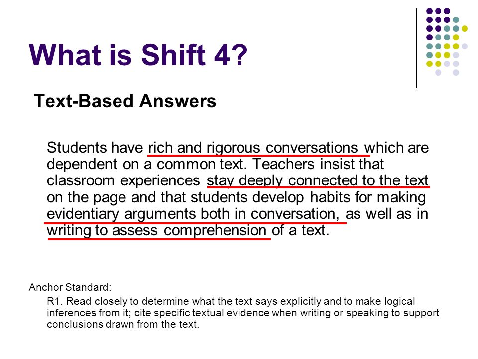 What is Shift 4 Text-Based Answers