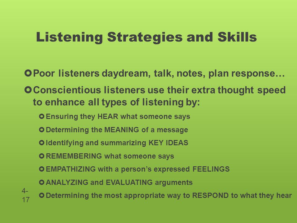 what are poor listening skills A common cause of listening comprehension issues is auditory processing disorder other conditions can also affect listening skills there are treatments that can help with learning comprehension issues it's not unusual for kids to tune out their parents or teachers once in a while but if you.