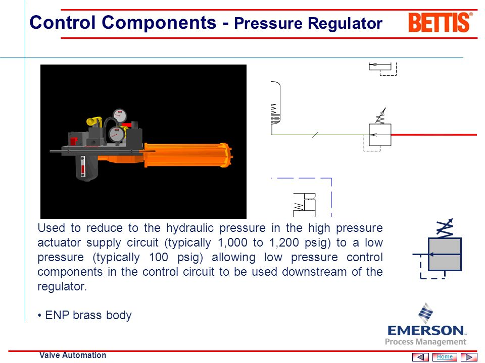 Control Components - Pressure Regulator