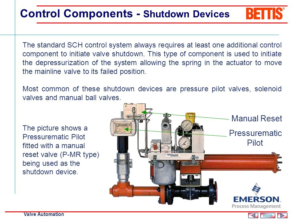 Control Components - Shutdown Devices
