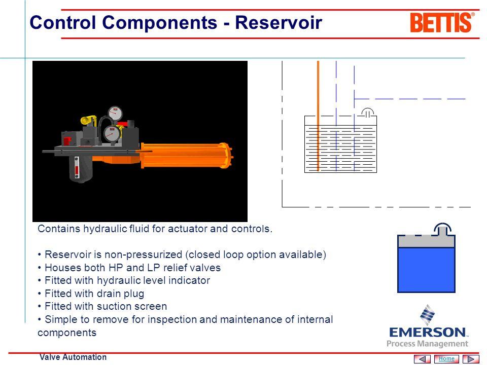 Control Components - Reservoir