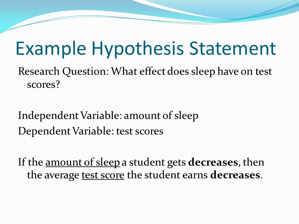 example of an hypothesis for a research paper