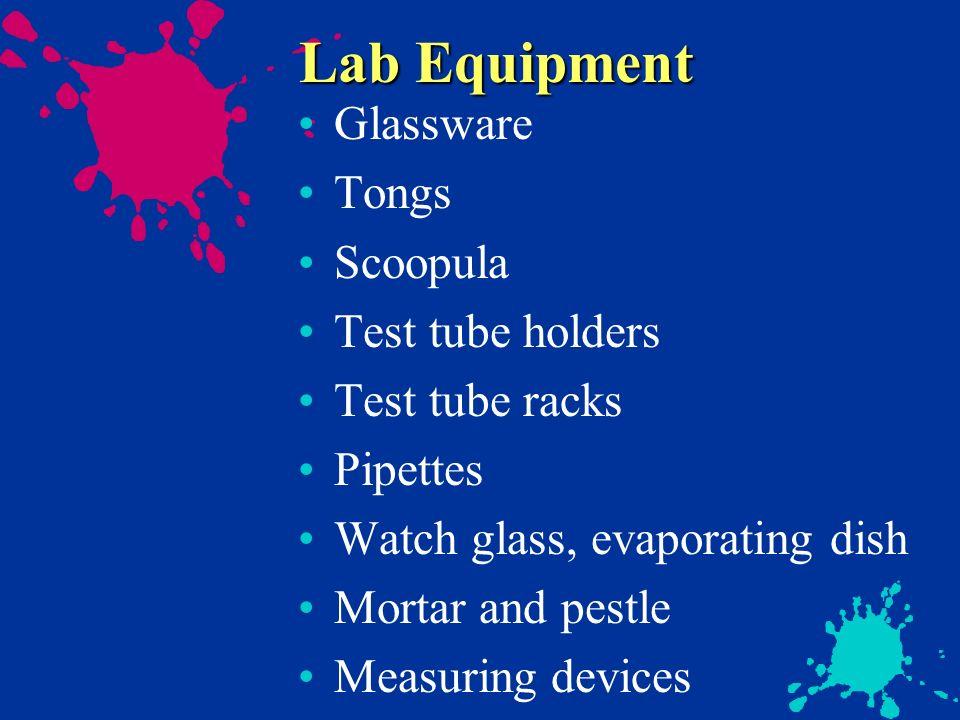 Lab Equipment Glassware Tongs Scoopula Test tube holders