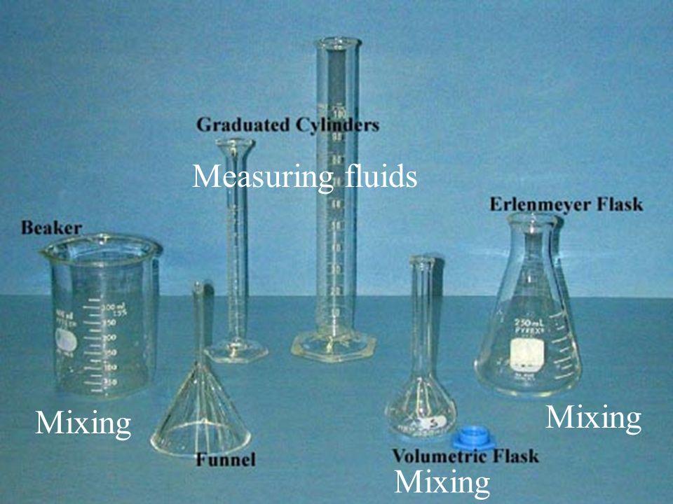 Measuring fluids Mixing Mixing Mixing