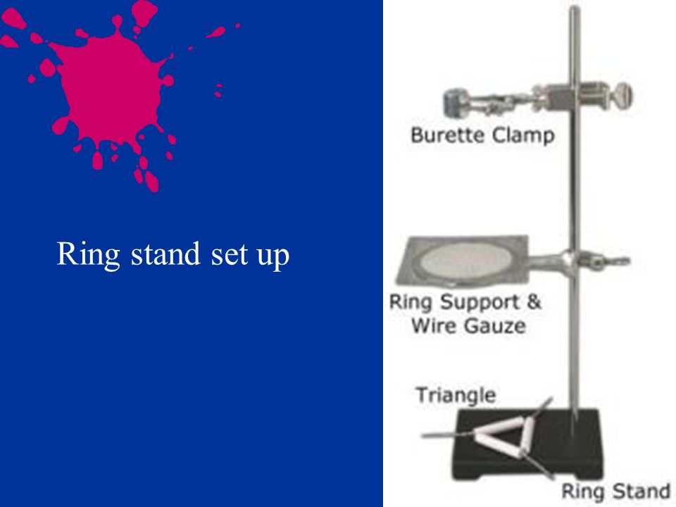Ring stand set up