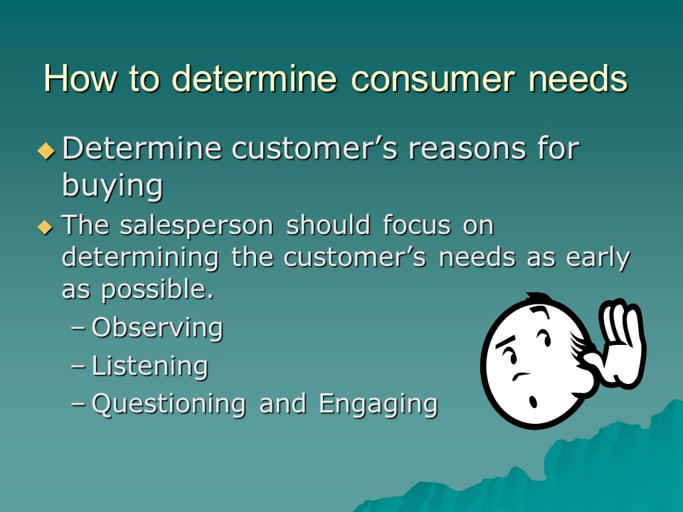 How to determine consumer needs