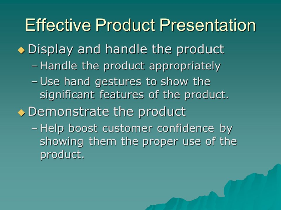 Effective Product Presentation