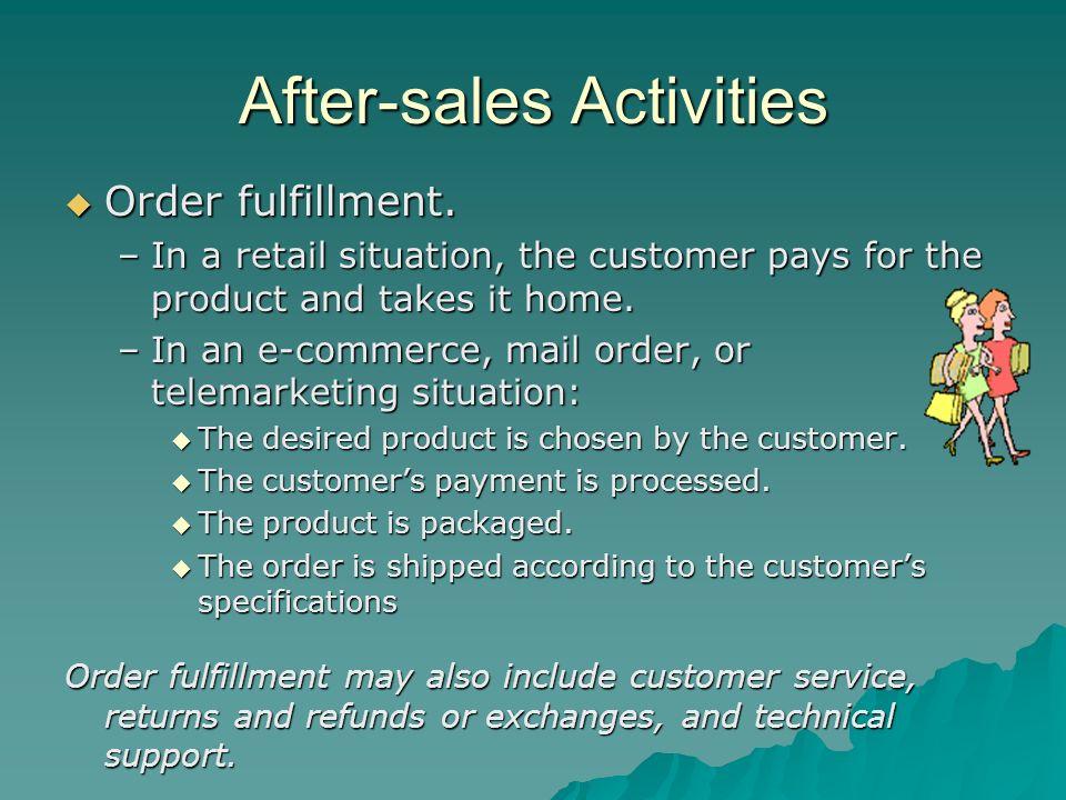 After-sales Activities