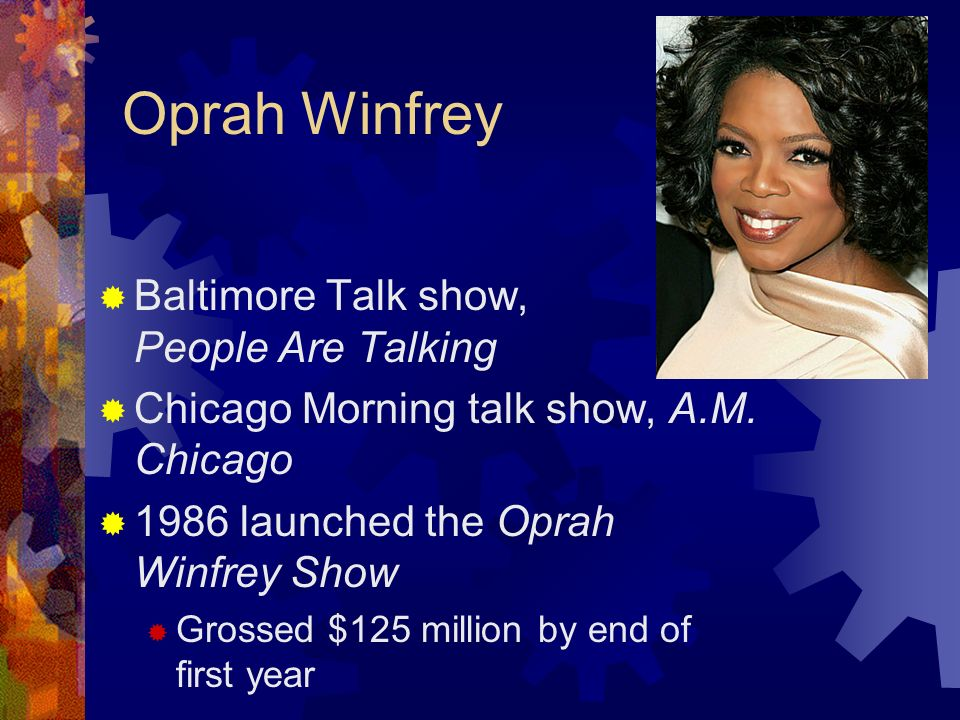 Oprah Winfrey Baltimore Talk show, People Are Talking