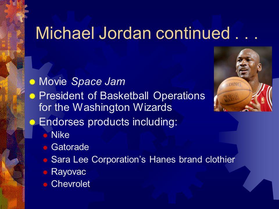 Michael Jordan continued . . .