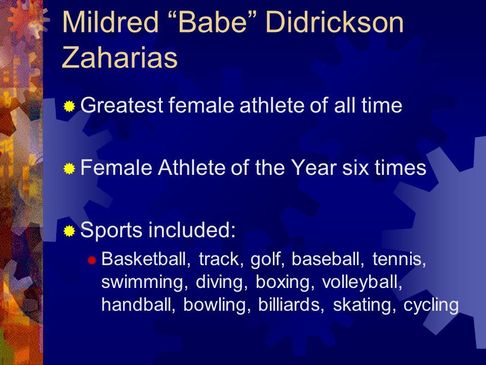 Mildred Babe Didrickson Zaharias