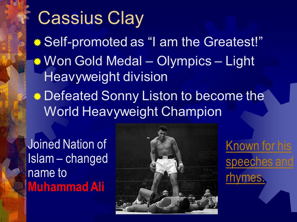 Cassius Clay Self-promoted as I am the Greatest!
