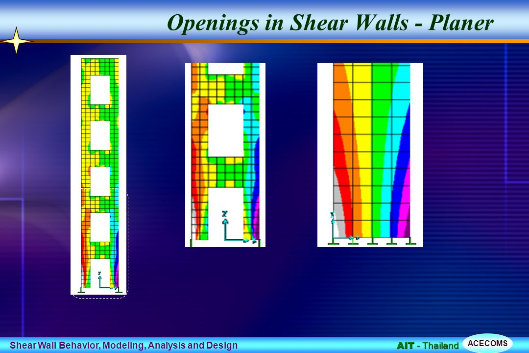 Behavior Modeling and Design of Shear Wall Frame Systems ppt