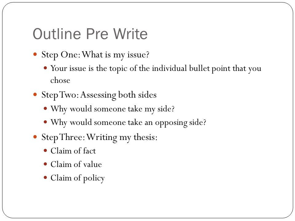 How to structure a three point essay